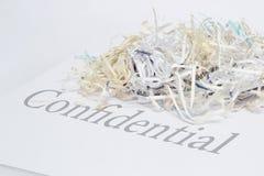 shredded конфиденциальный документ Стоковое Изображение RF