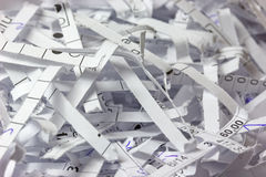 Shredded accounting Stock Image
