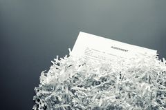 Shredded agreement Royalty Free Stock Photo