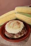 Shredded beef arepa Royalty Free Stock Image