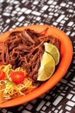 Shredded beef and nachos dinner Stock Images