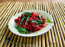 Shredded Beet  and Carrot Salad. Stock Images