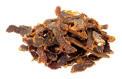 Shredded Biltong Dried Meat Stock Image