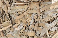 Shredded cardboard Stock Image