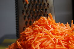 Shredded carrots Royalty Free Stock Image