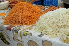 Shredded carrots and cabbage Royalty Free Stock Photo