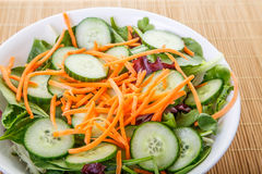 Shredded Carrots on Salad Closeup Royalty Free Stock Photos