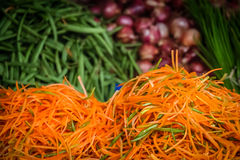 Shredded carrots for sale Royalty Free Stock Photos