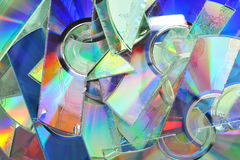 Shredded CD. Some destroyed CDs - shredded by a shredder Stock Photos