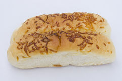 Shredded cheese bun Royalty Free Stock Image