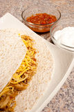 Shredded Chicken Tortilla Stock Images