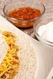 Shredded Chicken Tortilla Royalty Free Stock Image
