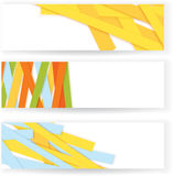 Shredded colorful paper banners vector Royalty Free Stock Photos
