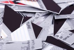 Shredded credit card Stock Image