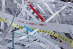 Shredded Credit Card Numbe4r Royalty Free Stock Photo