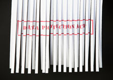Shredded Document - Data Protection Act Stock Image
