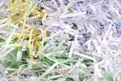 Shredded document paper. Closeup of the shredded document paper Stock Images