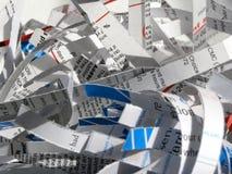 Shredded Documents 1. A pile of shredded documents stock photos