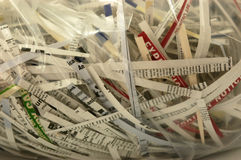Shredded documents Stock Photo