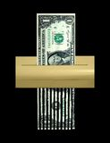 The Shredded Dollar, Economy and Debt Concept. The US Dollar being shredded away Stock Photography