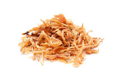 Shredded Dried Cuttlefish isolated on white Stock Photo