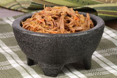 Shredded mexican beef and salsas Stock Photography