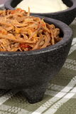 Shredded mexican beef and salsas Stock Image