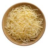 Shredded mild cheddar cheese stock image