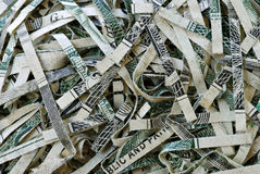 Shredded Money #1 Stock Photos