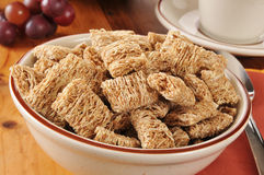 Shredded organic wheat cereal Stock Photos