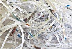 Shredded Paper. Pile of Shredded Paper from paper shredder Royalty Free Stock Photo