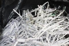 Shredded paper. Black bag that is full of Shredded paper Royalty Free Stock Photos