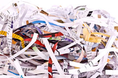 Shredded Paper. Coloured Shredded Paper in a pile Royalty Free Stock Photos