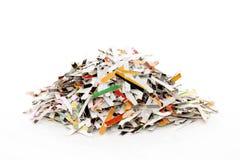 Shredded paper. On white background Royalty Free Stock Photo
