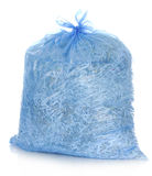 Shredded paper. Recycle - garbage bag full of shredded paper Royalty Free Stock Photography
