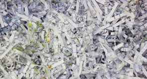 Shredded Paper. A Close-Up Shot of Shredded Paper royalty free stock photography