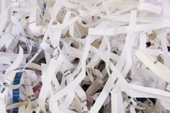 Shredded Paper. Close up of shredded paper Royalty Free Stock Photography