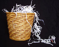 Shredded paper. In waste basket Stock Photography