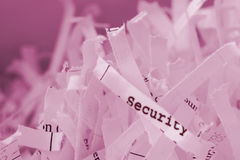 Shredded Paper. With text Royalty Free Stock Photo