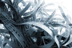 Shredded paper abstract. Abstract shredded paper close-up background Royalty Free Stock Image