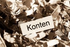 Shredded paper accounts keyword Stock Photography