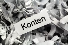 Shredded paper accounts keyword Stock Photos