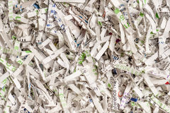 Shredded Paper. Assorted Paper Shredded up so no Information can be Read Royalty Free Stock Images