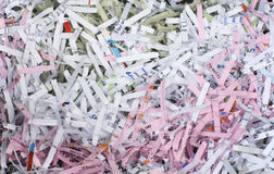 Shredded paper background Royalty Free Stock Photos