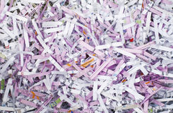 Shredded paper background Stock Images