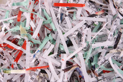Shredded Paper background. Shredded paper documents for use as a background royalty free stock photos