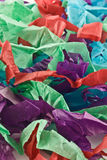 Shredded paper. A background of colorful shredded tissue paper Stock Photography
