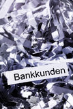Shredded paper bank customers Stock Photography