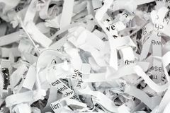 Shredded paper close up Stock Photo