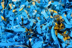 Shredded paper close up Royalty Free Stock Photography